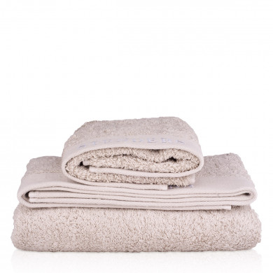 Organic cotton towel, grey (50 x 70cm / 19.7 x 27.5″) image