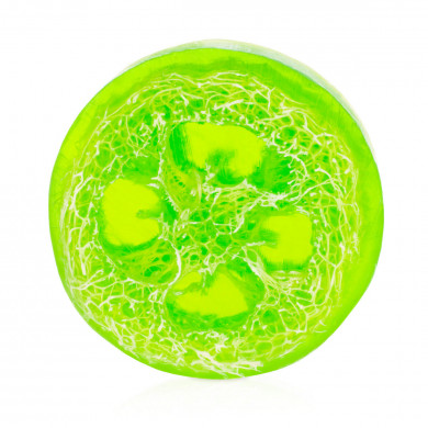 Apple loofah soap image