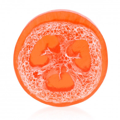 Grapefruit - quince loofah soap image