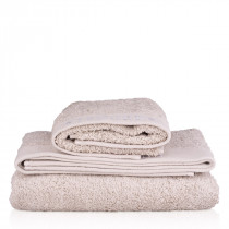 Organic cotton towel, grey (50 x 70cm / 19.7 x 27.5″)