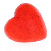 """Strawberry"" heart-shaped hand soap bar"