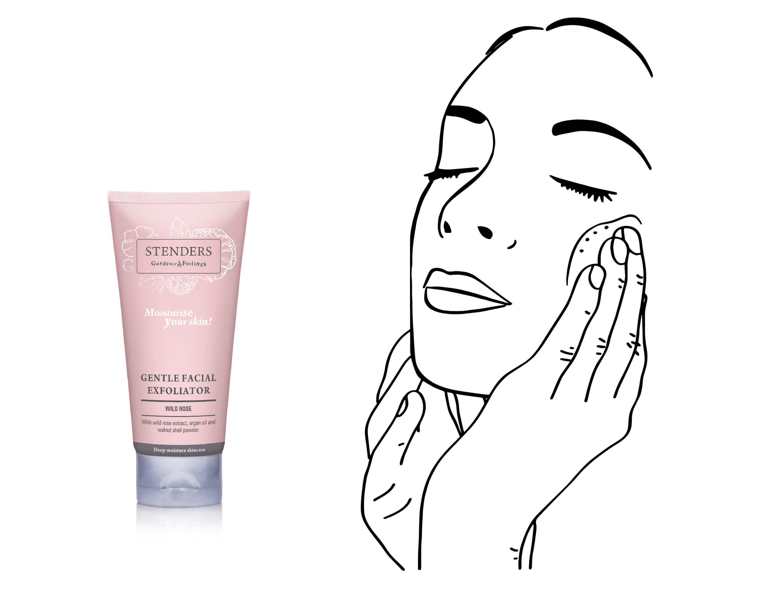 Use Wild Rose Gentle Facial Exfoliator