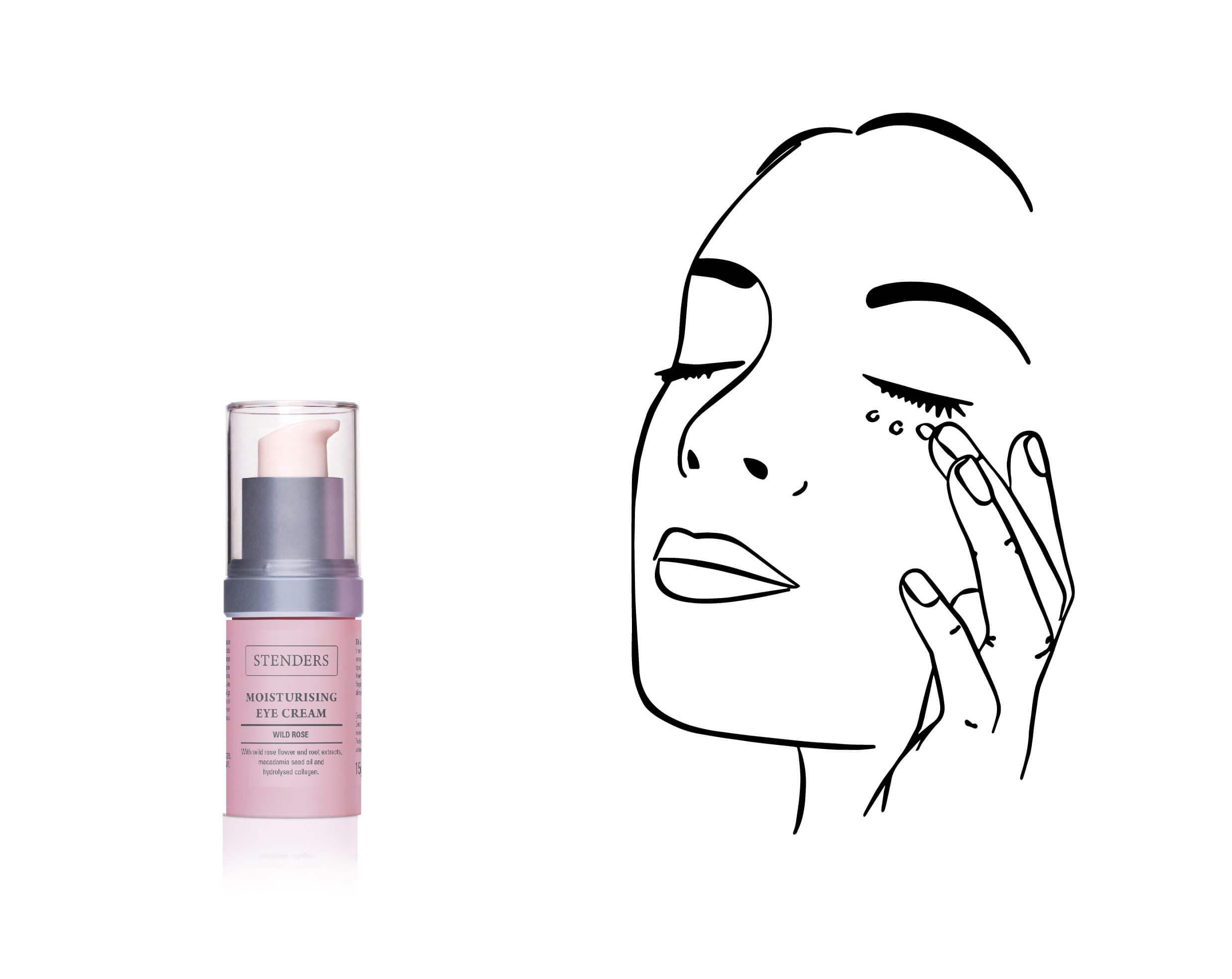 Use Wild Rose Moisturising Eye Cream