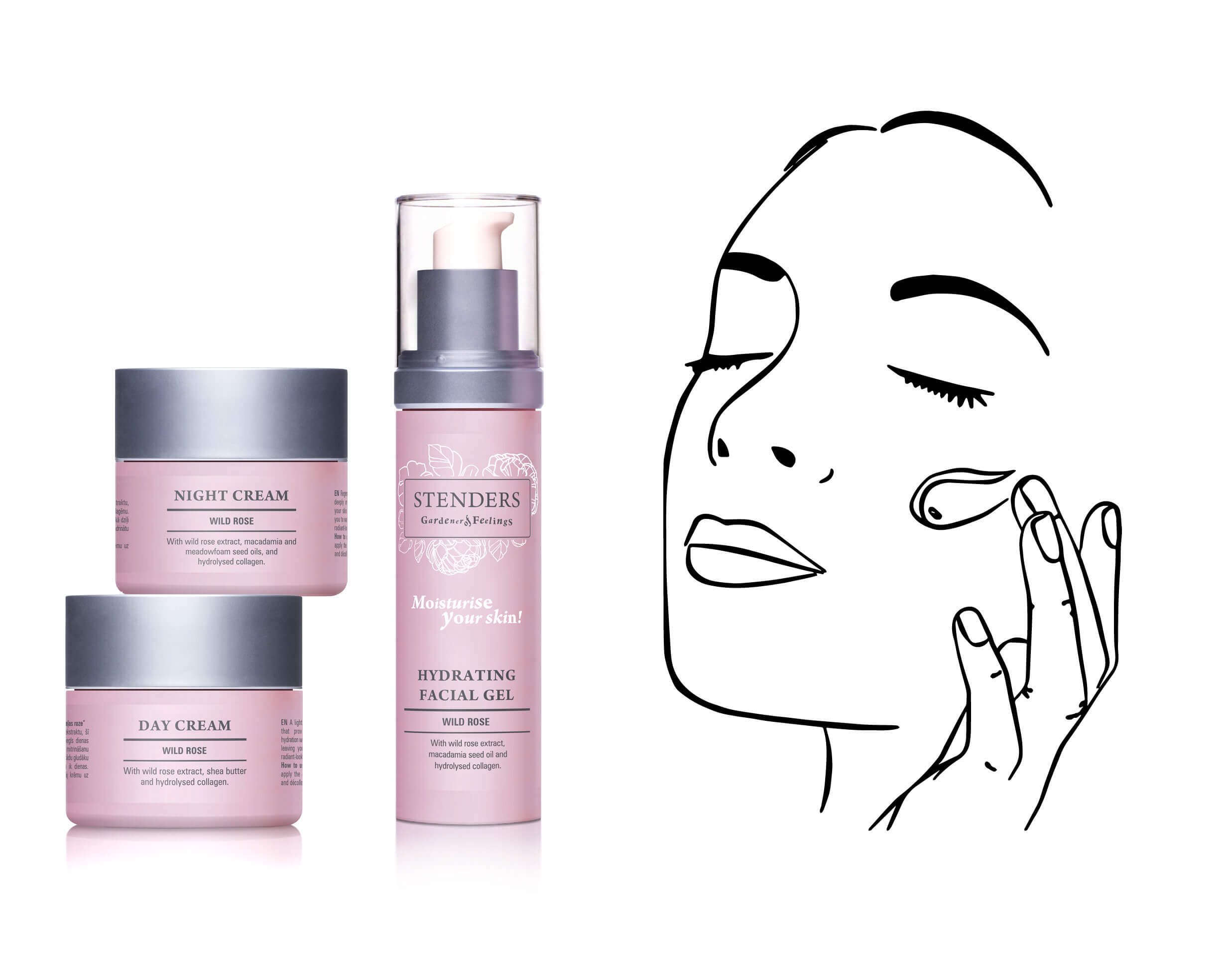Use Day Cream or Hydrating Facial Gel and Night Cream