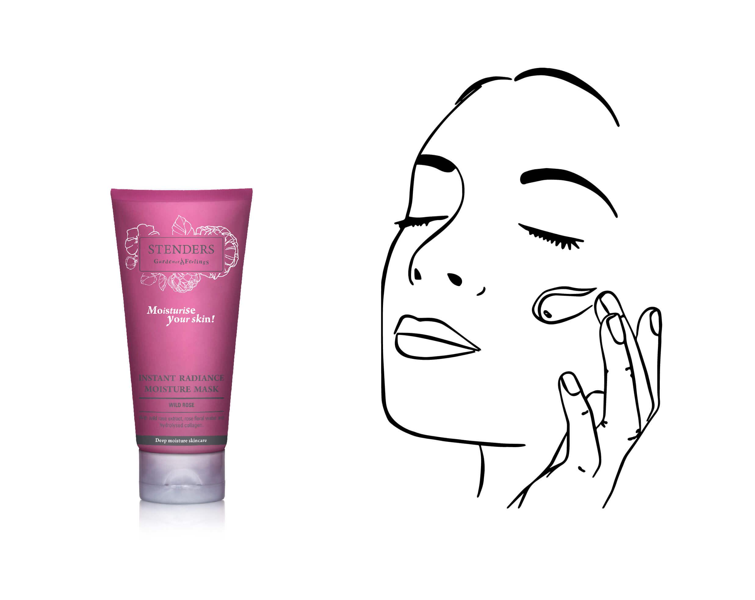 Use Wild Rose Instant Radiance Moisture Mask